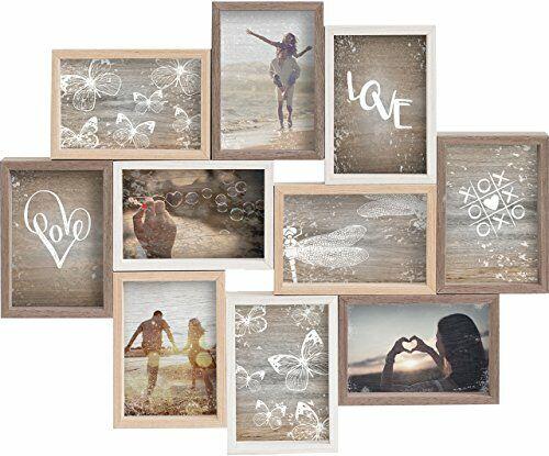 Nielsen Collage Mixed Colours  für 10 Fotos 10x15cm Holz Bilderrahmen Fotorahmen