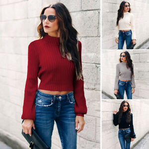 Winter-Women-Backless-High-Neck-Jumper-Sweater-Long-Sleeve-Pullover-Top-Knitwear