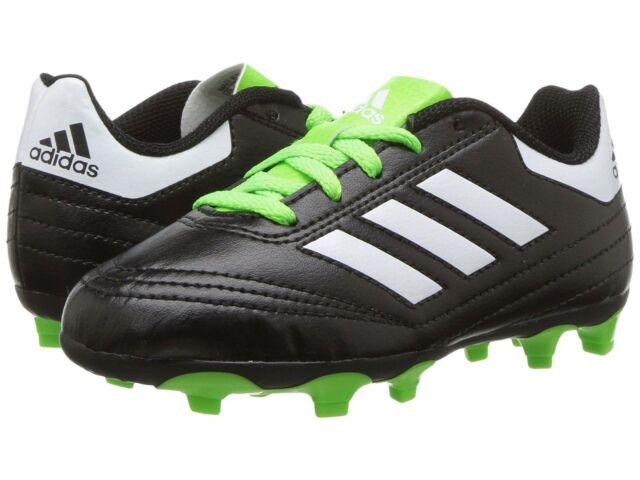4eb66f4a4 ... where to buy adidas kids boy girl soccer cleats goletto vi fg j black  neon green