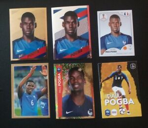 Lot X6 Paul Pogba Panini gold silver Russie 2018 2020 France exclusive Mint card