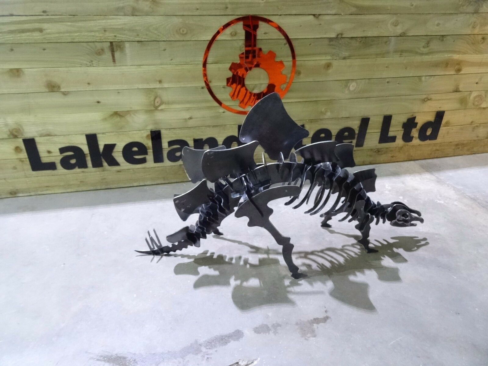 Kit de dinosaurio Stegosaurus Metal Acero Modelo Adorno Jardín Rompecabezas