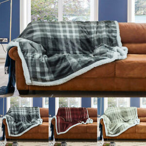 Sherpa-Throws-Blanket-Wiltshire-Flannel-Fleece-Luxury-Sofa-Bed-Large-Soft-Warm