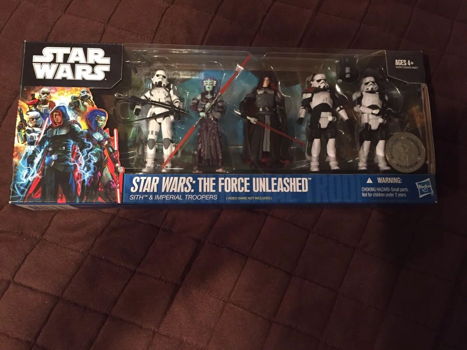 Star Wars FORCE UNLEASHED Sith & Imperial Troopers TRU EXCLUSIVE NEW MIB Sealed