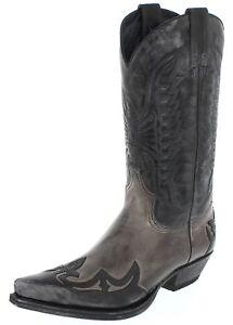 Negro per Sendra Grigio uomo donna Boots grigio Boots Western 13170 e nero EUyH6OwqU