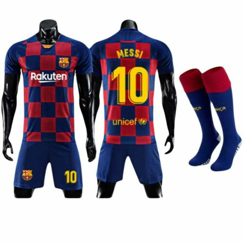 Fußball Fan Trikot Set Kurzarm T Shirt kurze Hose Shorts Für Herren Kinder 2-13Y