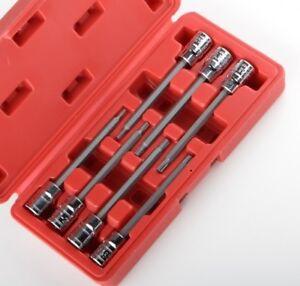 3-8-Extra-Long-Torx-Deep-Bit-Socket-Set-Star-Torque-7pc-CRV-with-CASE-NEW
