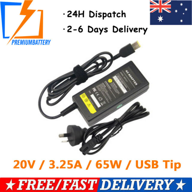 20V 65W Laptop AC Adapter Charger for Lenovo ThinkPad X1 Carbon Ultrabook+Plug p