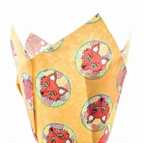 REDUCED Fox Print Muffin Tulip Wrap