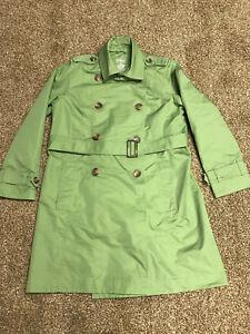 media verde taglia L coat con cintura Trench femminile ApxPq40Z