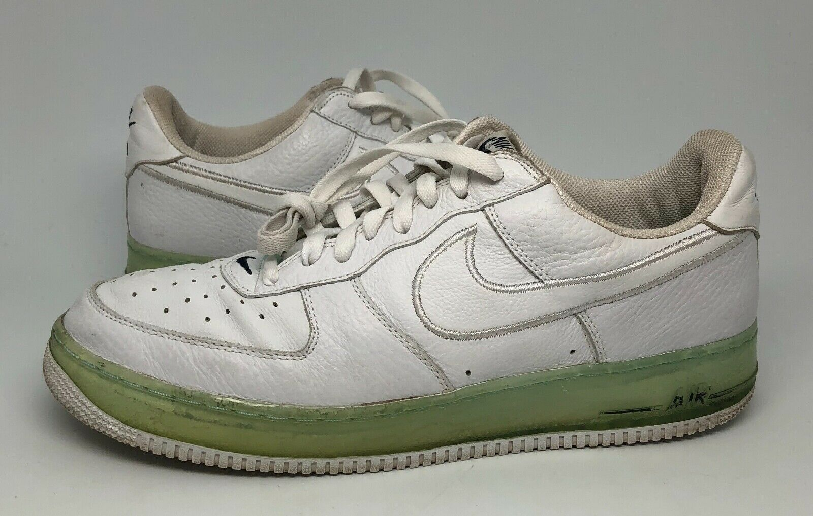2005 Nike Air Force 1 One Premium Ice Cube Sneakers Size 13 White bluee Rare AF1