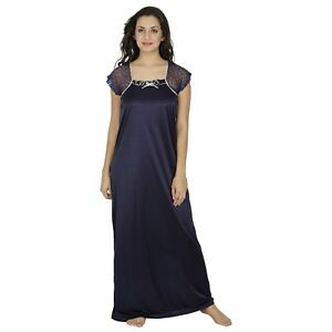 7423047a86e5 Sexy Blue Women S Nightdress Night Wear-Dress-Maxi-Nighty Ladies ...