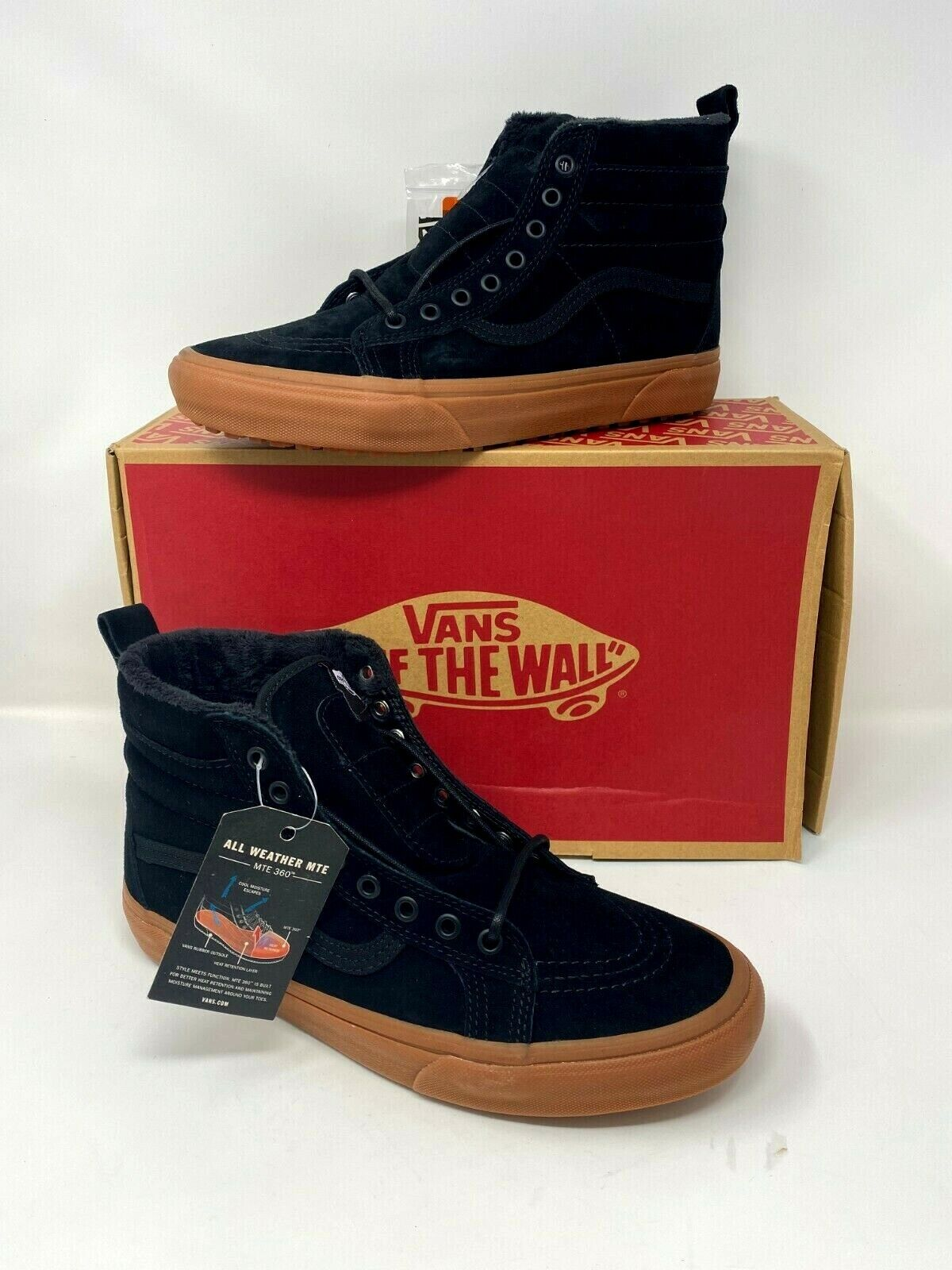 vans sk8 hi zip mte black leather gum toddler size us 4 5 vn0a32r3qqw nwb for sale online ebay vans sk8 hi mte leather black gum shoes men s us size 8 women s size 9 5