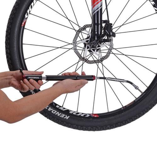 ROCKBROS Fahrradpumpe Mit Barometer Minipumpe Hochdruck 140PSI Presta /& Schrader