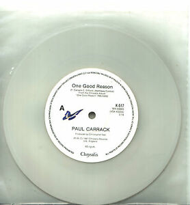 Paul-Carrack-One-Good-Reason-Australian-white-vinyl-45-record-1987-UNP