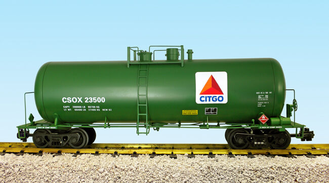 USA Trains G Scale 42 Foot Modern Tank Car R15266  Citco - Green