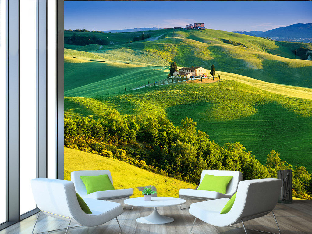 3D Grassland House Paper Wall Print Wall Decal Wall Deco Indoor Murals