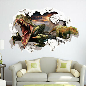 3d view kids room decor wall sticker wall decals mural ebay for Sticker mural 3d