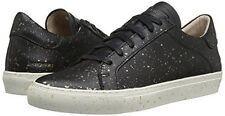 Skechers Women's 'Vaso Pintar' Black Leather Sneaker Shoes Size 8 Gold Splatter