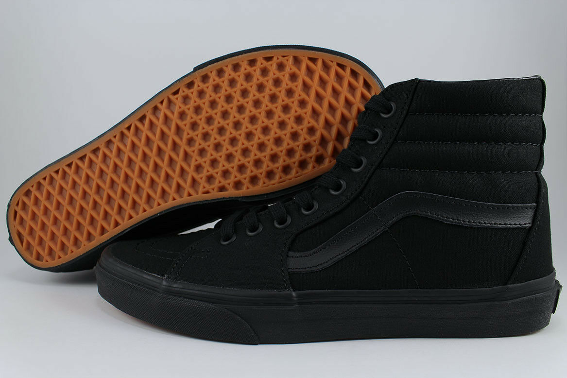 VANS SK8-HI TRIPLE schwarz schwarz schwarzOUT ALL CANVAS CLASSIC SKATE HIGH MENS GrößeS