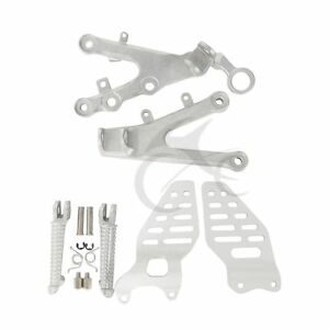 Front Foot Pegs Footrest Bracket For Yamaha YZF R6 2006-2017 07 08 09 10 Silver