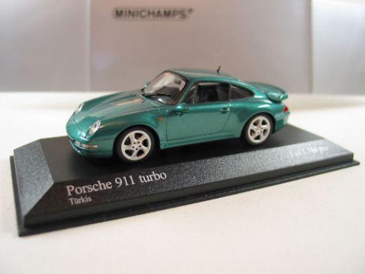 punto de venta en línea Raro Raro Raro Minichamps PORSCHE 911 993 Turbo Turkis verde Metálico 1 43 como nuevo 1 1344  tienda de descuento