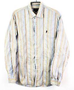 MARLBORO-Classics-Men-Shirt-DZ39-Cotton-Linen-Casual-Size-L