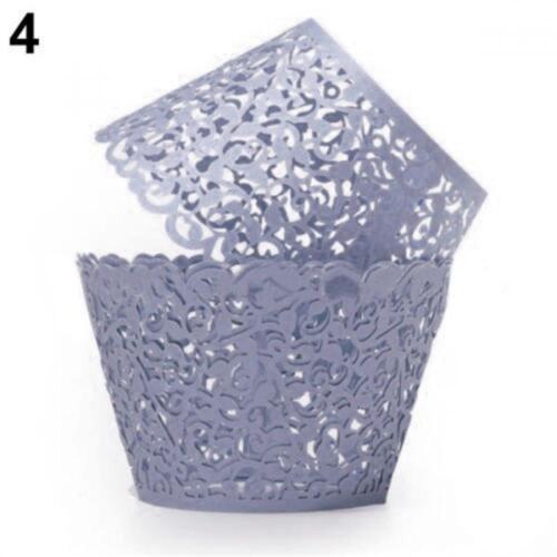 12x Filigree Vine Wraps Cases Wedding Birthday Decorations Cupcake Wrappers Hot