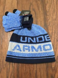 NEW Youth Boys UA Under Armour Hat   Glove Set Blue - One Size ... 43450e2d452
