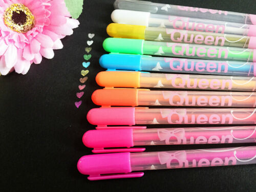 2 x Sweet Candy Color Pens Card Making Craft Diary Scrap booking Kids Party UK