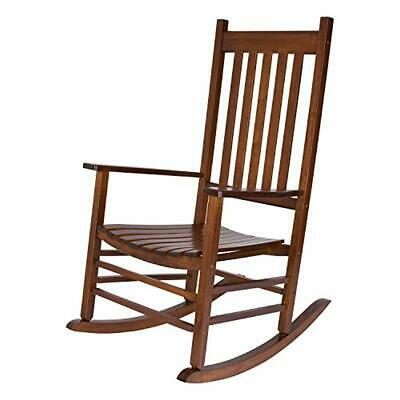 Admirable Solid Wood Rocking Chair Natural Wooden Vermont Porch Relaxing Rocker Home Decor Ebay Frankydiablos Diy Chair Ideas Frankydiabloscom