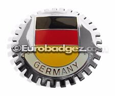 1 - NEW Chrome Grill Badge German Coat of Arms GERMANY STRIPES BRY MEDALLION