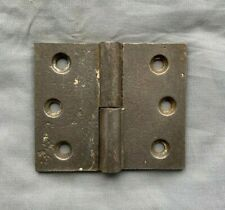 One Antique 3x3 Cast Iron Right Hand Lift Off Gravity Hinge Door Old Vtg 443-18P