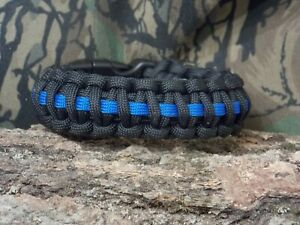 Thin Blue Line Officier de Police 550 Paracord Survival Bracelet