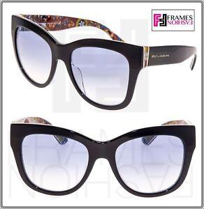 dd329cf34c4 DOLCE   GABBANA Sicilian Carretto 4270 Crystal Black Print Oversized ...