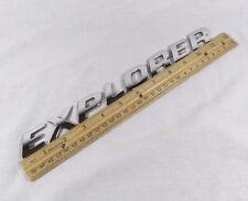 FORD EXPLORER EMBLEM LETTERS 02-05 OEM DOOR/HATCH OEM CHROME BADGE sign symbol