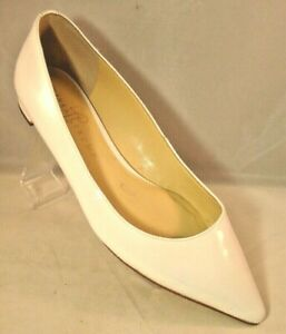 Ivanka-Trump-Shoes-Flats-Pointed-Toe-White-Patent-Leather-Size-8-5-M-Bridal