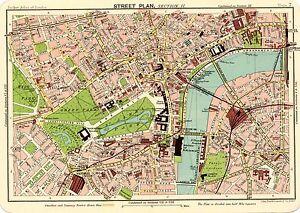 Londra Centro Cartina.Riproduzione Bartholemews 1900 Mappa Del Centro Di Londra 3 A2 A3 A4 Taglie Ebay