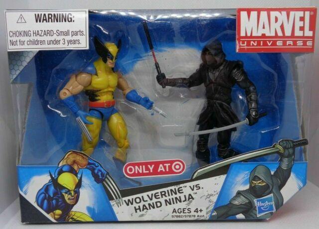 Nouveau Hasbro Marvel univers 2009 004 WOLVERINE vs main Ninja Figures Menthe en Boîte Scellée cible