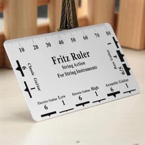 fritz ruler guitar string action gauge string pitch ruler card luthier tool kit 720242530553 ebay. Black Bedroom Furniture Sets. Home Design Ideas