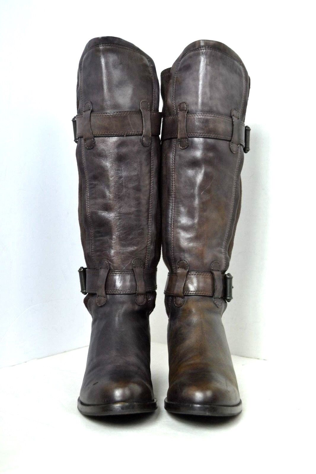 COLE HAAN BROWN GENUINE GENUINE GENUINE LEATHER SUEDE BOOTS SIZE 6 B 322008