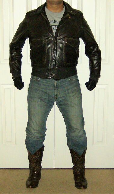 Schott Leather Bomber Flight Jacket with Awesome Sheen!