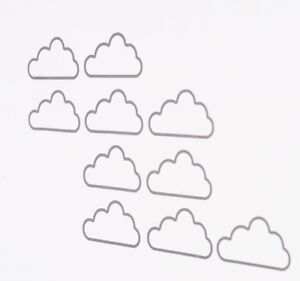 Fun cloud outline vinyl wall art decalsstickers various colours image is loading fun cloud outline vinyl wall art decals stickers voltagebd Choice Image