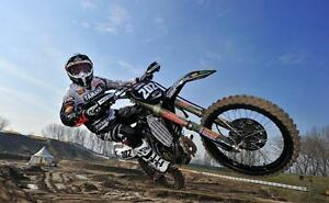 MOTOCROSS BIKE WALL PICTURE POSTER  GIANT HUGE