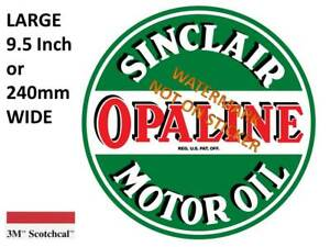 VINTAGE SINCLAIR OPALINE DECAL STICKER LABEL 9.5 INCH DIA 240 MM HOT ROD