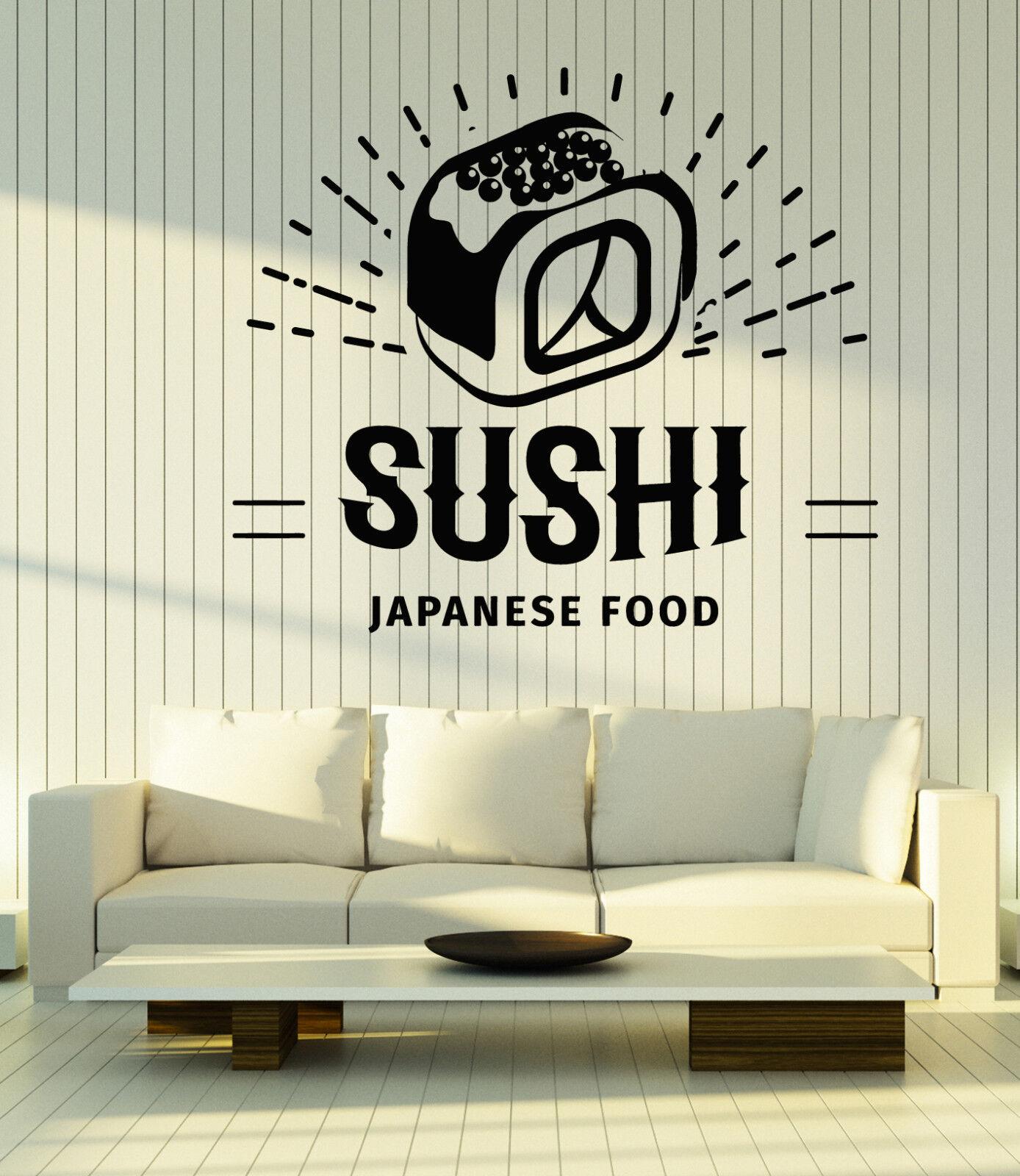 Wall Vinyl Decal Sushi Japanese Food Restaurant Interior Decor z4836