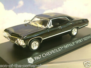 GREENLIGHT-1-43-1967-CHEVROLET-CHEVY-IMPALA-SPORT-034-SUPERNATURAL-034-KANSAS-PLATES