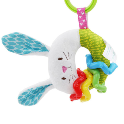 Colors Newborn Baby Teething Plush Rattle Teether Ring Teether Crib Toy Z