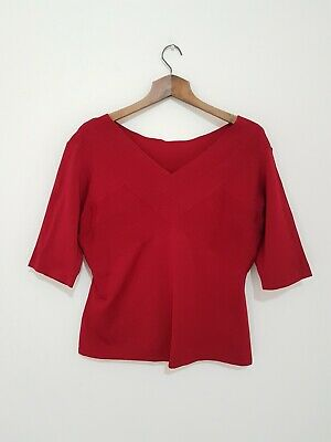 Angemessen Alex & Co Dark Red Short Sleeves Stretch Viscose Mix Occasion Top Xl Rrp £50 Der Preis Bleibt Stabil