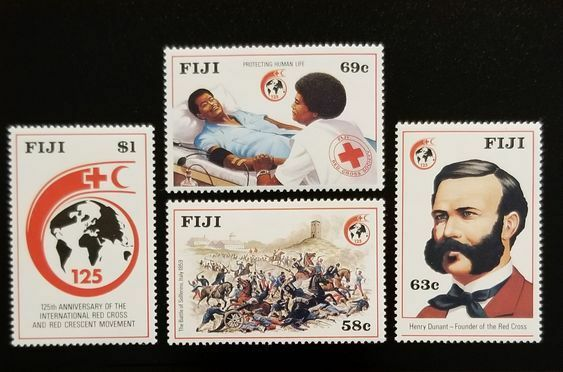 1989 Fiji Red Cross & Red Crescent, 125th, Set of 4 Sco
