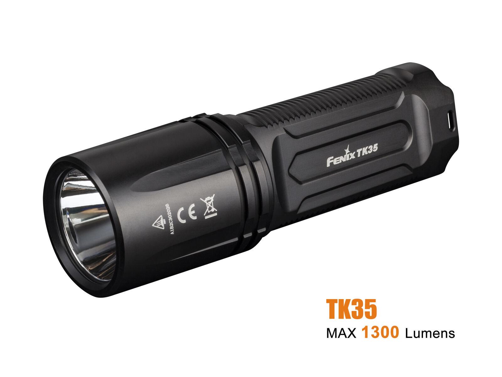 Fenix TK35 2018 CREE XHP35 HI Neutral bianca LED 1300 Luuomini FlashlightBattery